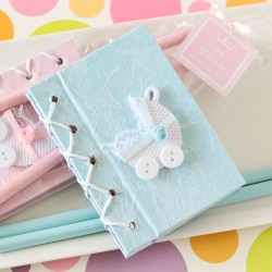 Baby Carriage Notebook Favors
