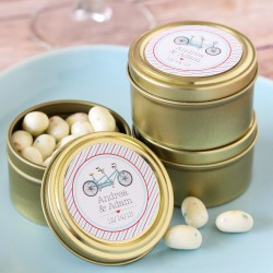 Personalized Round Candy Tins