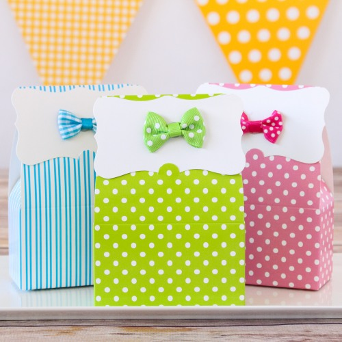 Patterned Favor Boxes