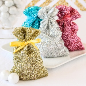 Metallic Glam Favor Bags