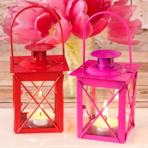 Mini Colored Tealight Lanterns