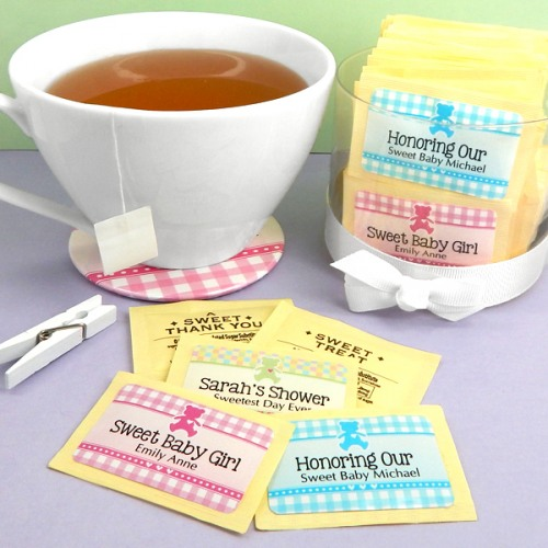Personalized Baby Shower Sweetener Packets