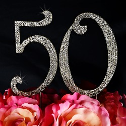 Crystal Number Cake Topper