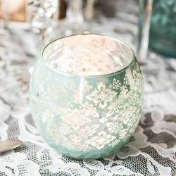 Patterned Glass Globe Votive Holder