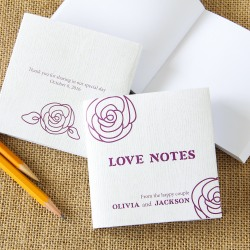 Notepad Favor With Personalized Cover