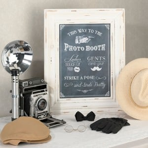 Personalized Framed Wedding Signs