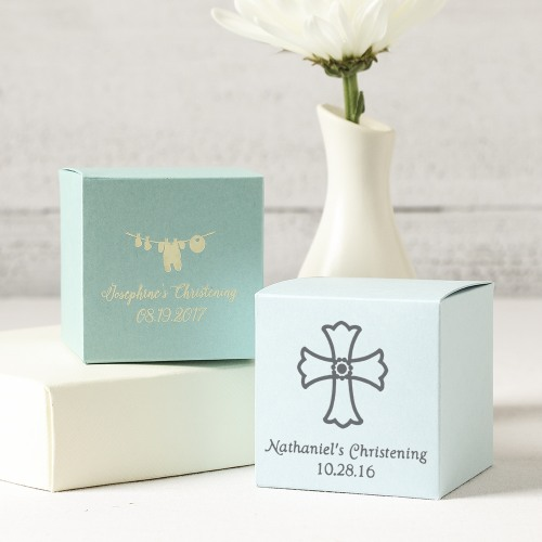 Personalized Religious Square Favor Box