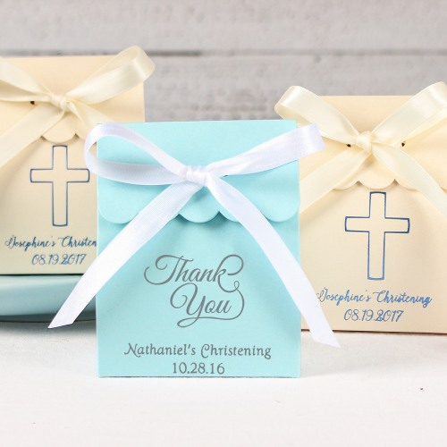 Personalized Scalloped Religious Favor Box
