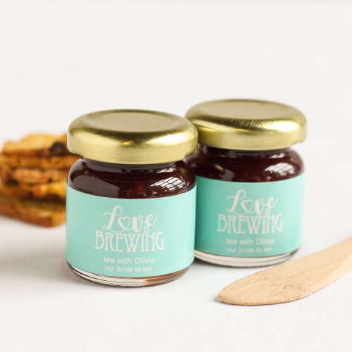 Personalized Bridal Love is Brewing Jam