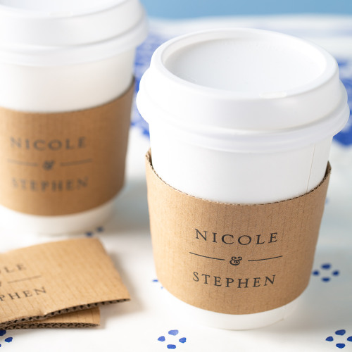 Personalized Citrus Garden Coffee Sleeves