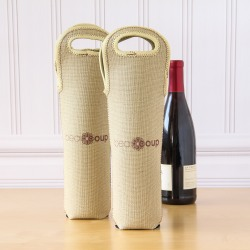 Custom Photo Wine Tote Bag