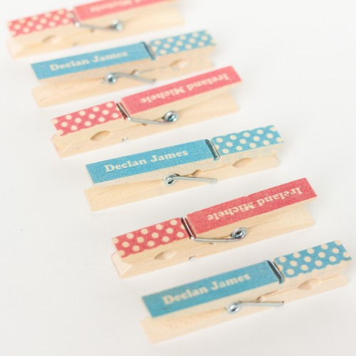 Personalized Baby Shower Clothespins