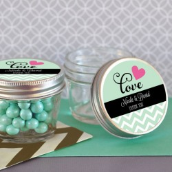 Personalized Bridal 4 oz. Mason Jars