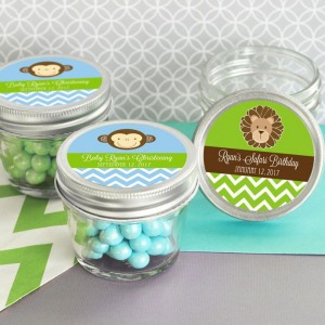Personalized Baby Shower 4 oz. Mason Jars