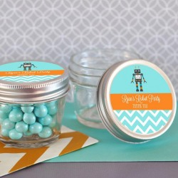 Personalized Birthday 4 oz. Mason Jars