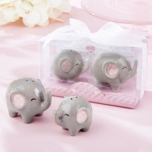 Ceramic Elephant Salt and Pepper Shakers