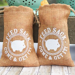 Burlap Feed Sack Favor Bags