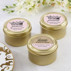 Personalized Birthday Gold Candy Tins