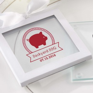 Personalized Birthday Glass Coasters