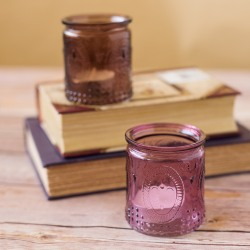 Vintage Colored Tealight Holders