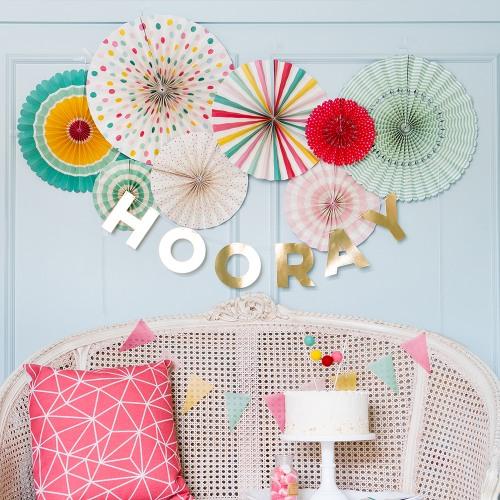 Pinwheel Decorations in Hooray