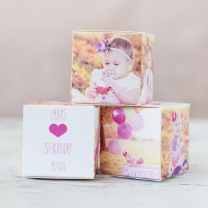 Personalized Birthday Photo Favor Box