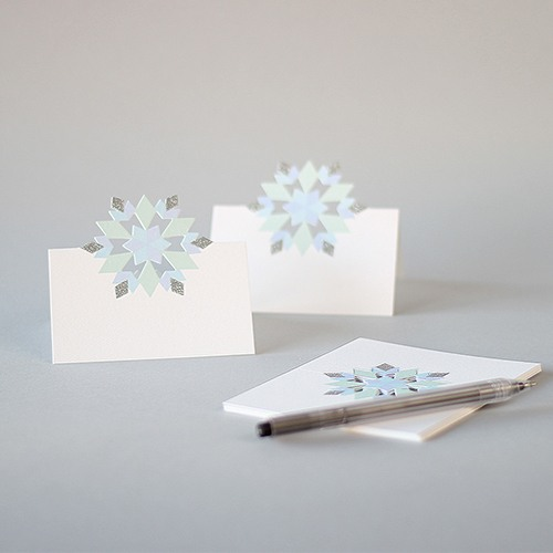 Glitter Snowflake Place Cards