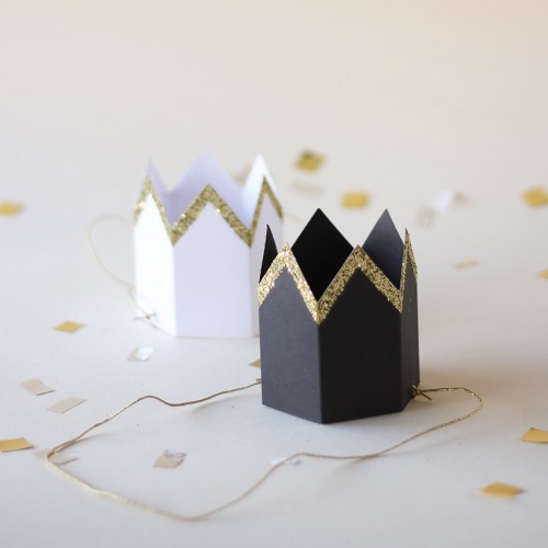 Glittered Party Crowns