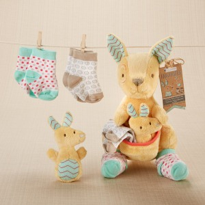 Plush Kangaroo with Socks Gift Set