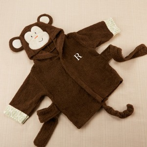 Personalized Monkey Bath Robe