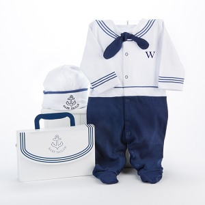 Personalized Sailor Layette Gift Set