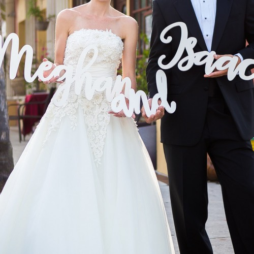 Personalized Name Decoration in White
