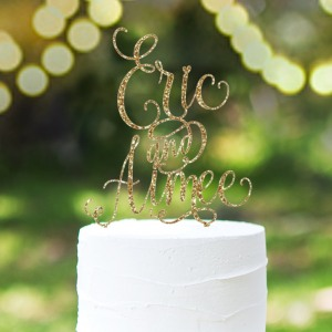 Personalized Names Cake Topper