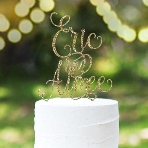 Personalized Names Cake Topper in Whimsical