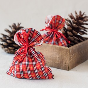 Plaid Favor Bags