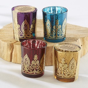 Henna Jewel Votive Tealight Holders