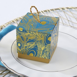 Peacock Foil Favor Boxes