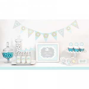 Blue Elephant Baby Shower Kit