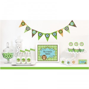 Jungle Safari Baby Shower Kit