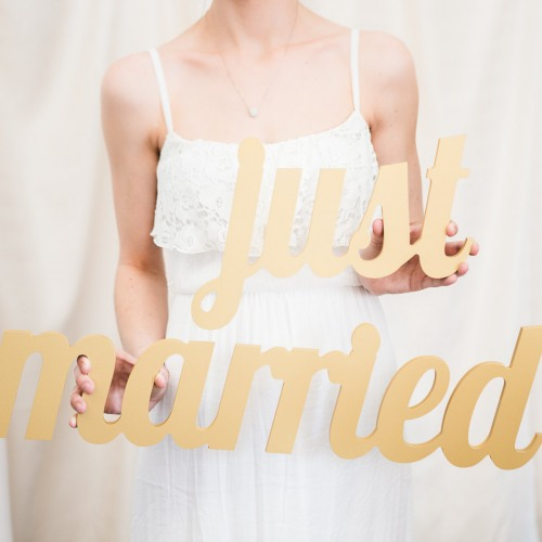 Just Married Decoration Sign