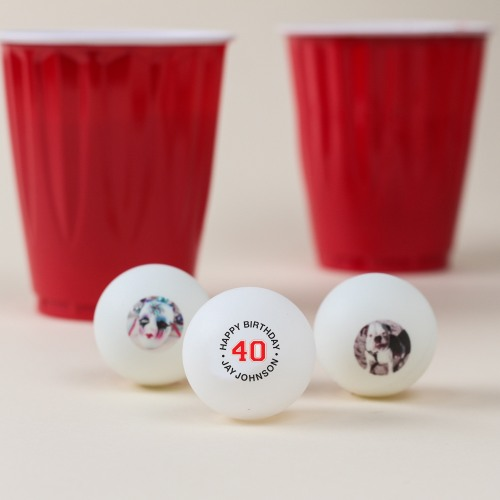 Personalized Birthday Ping Pong Balls