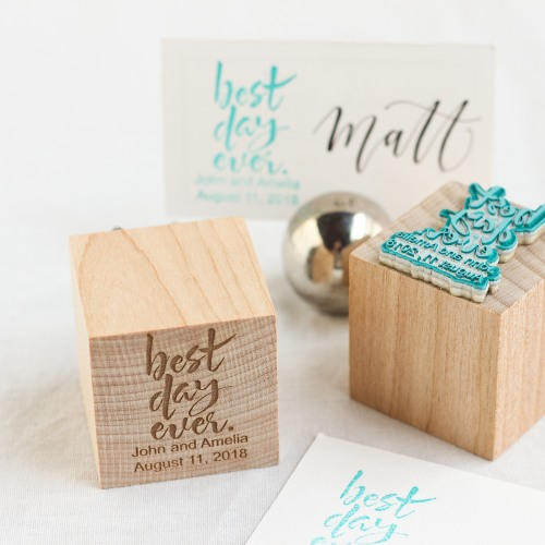Personalized Best Day Ever Stamp