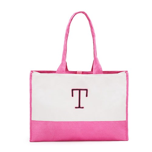 Initial Colorblock Tote Bag