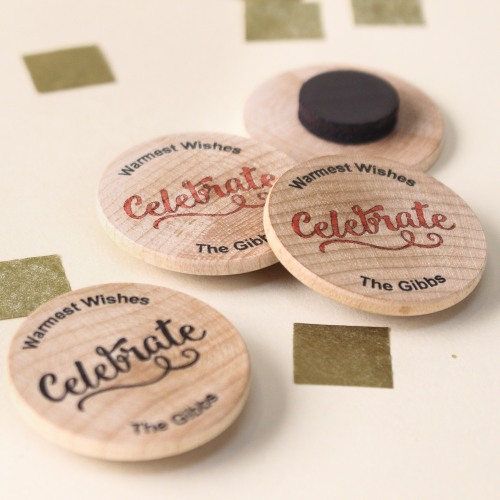 Personalized Wooden Celebrate Party Magnets