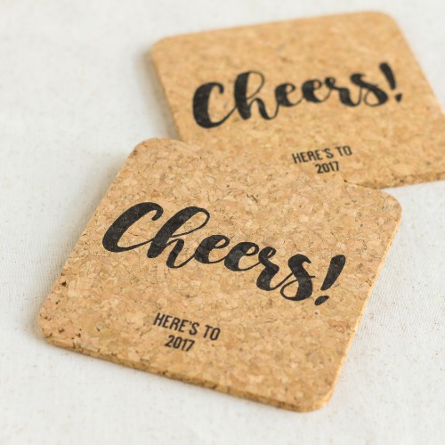 Personalized Party Cork Coasters