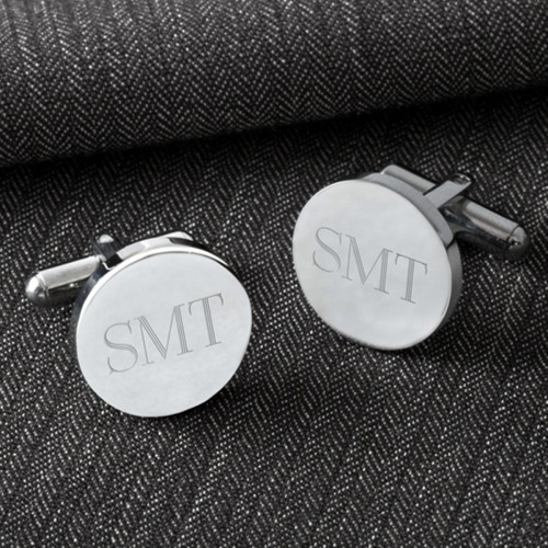Image of Personalized Round Cufflinks