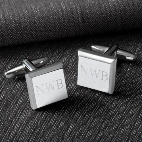 Image of Personalized Square Cufflinks