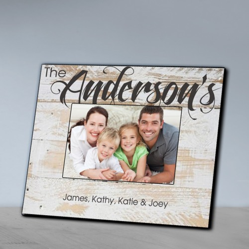 Personalized Rustic Wood Picture Frame