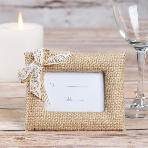 Burlap Place Card Holder/Photo Frame