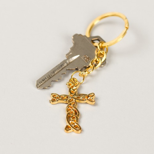 Gold Cross Keychain Favor